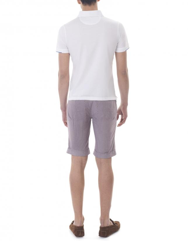 Small checked bermuda shorts