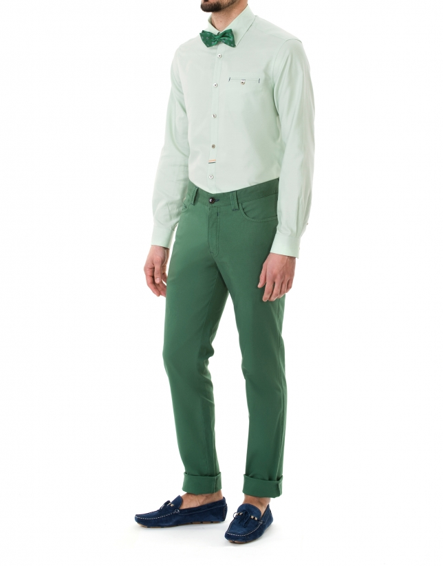 Green premium fit Oxford sport shirt