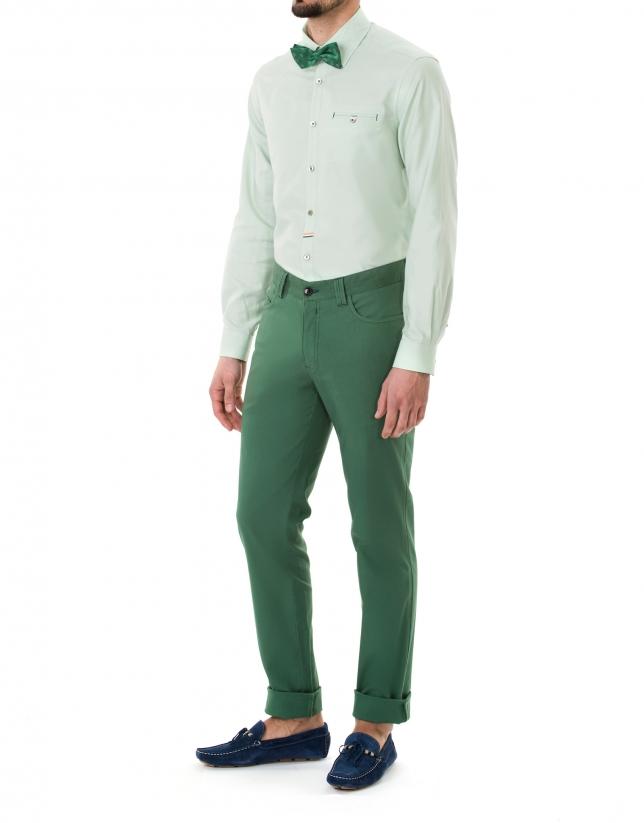 Green premium fit Oxford sport shirt