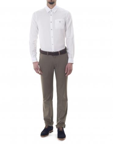Camisa sport microdibujo blanco
