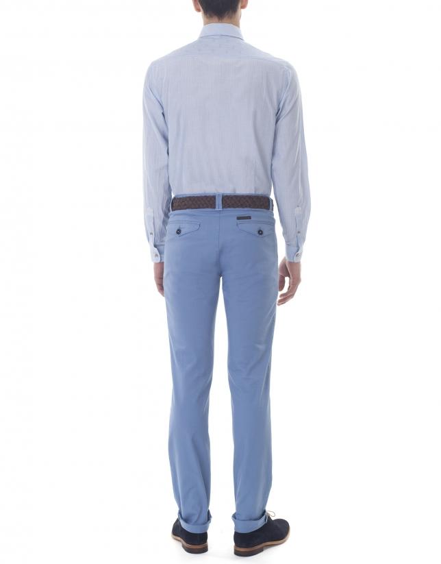 Camisa sport rayas azules