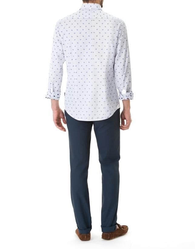 Blue jacquard sport pants