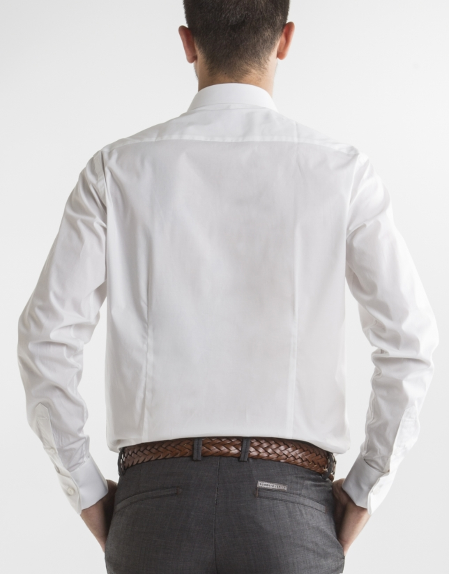 Camisa vestir lisa blanco