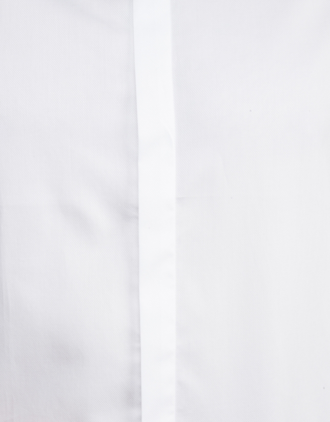 White micro structured dressy shirt
