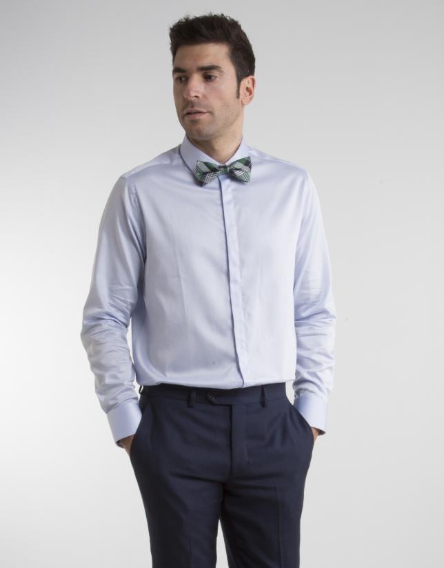 Camisa de vestir Oxford celeste gemelos