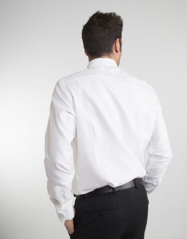 Chemise de cérémonie à microstructure blanche