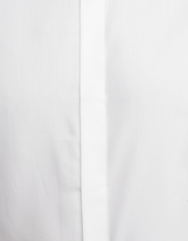 Camisa ceremonia microestructura blanca
