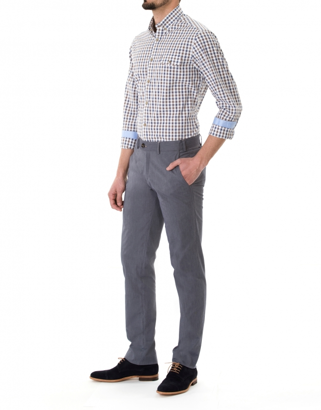 Blue micro striped sport pants