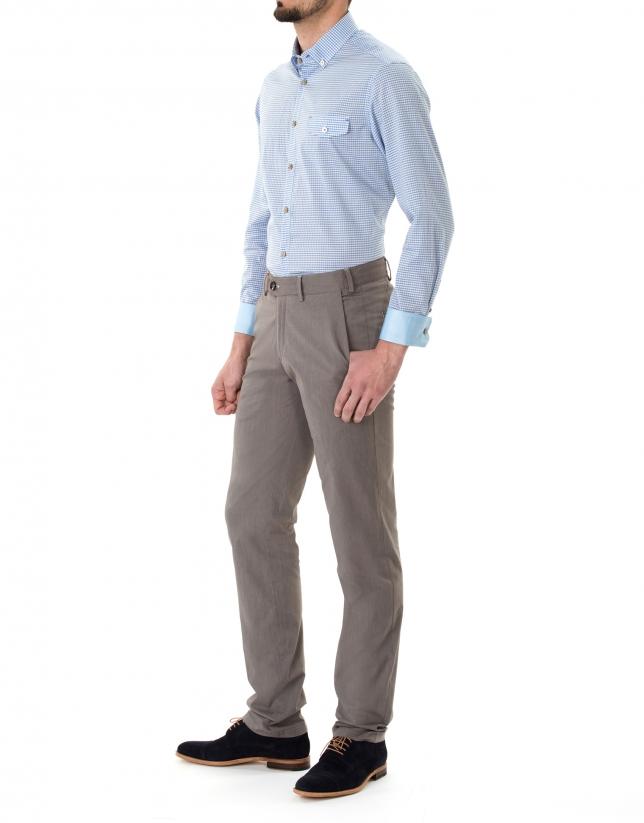 Brown micro striped sport pants