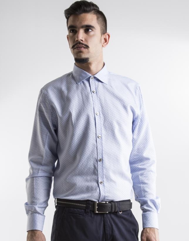 Blue print sport shirt