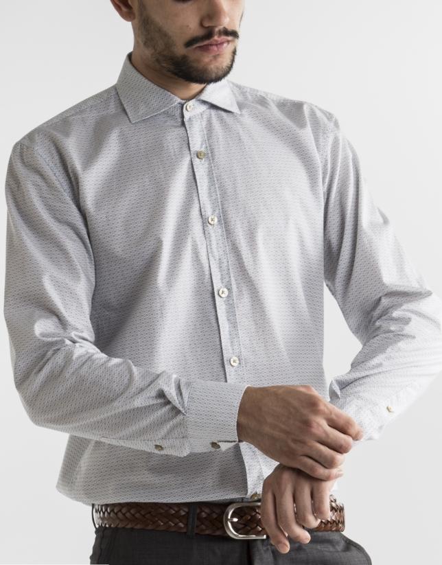 Camisa sport estampada motivos verde