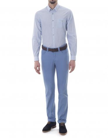 Pantalón sport jacquard azul