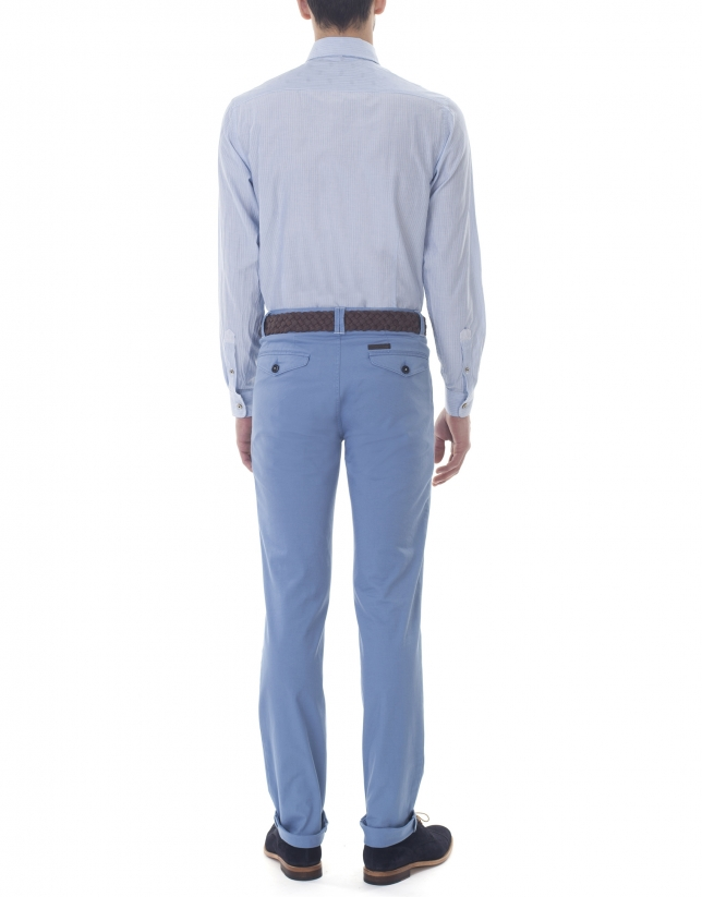 Blue jacquard sport pants