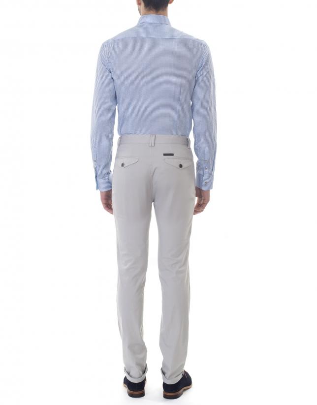 Pantalon ville jacquard gris
