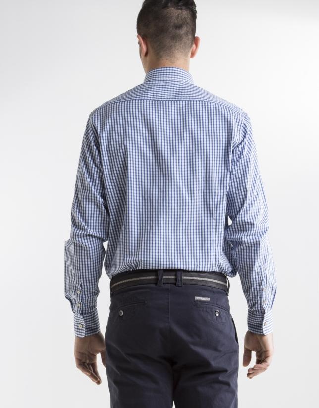 Blue checked sport shirt