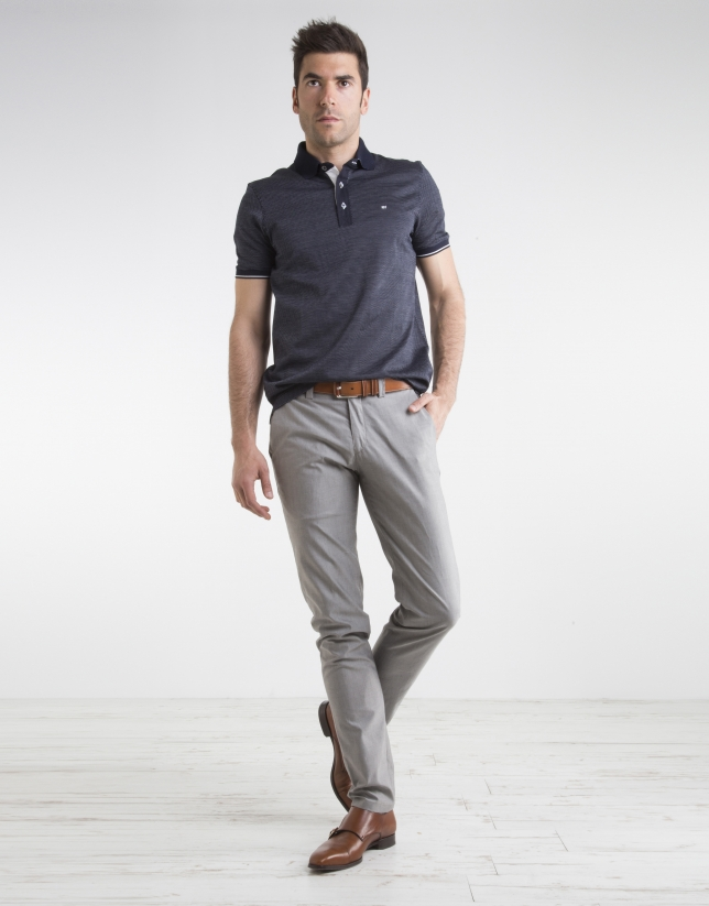 Gray structured sports pants