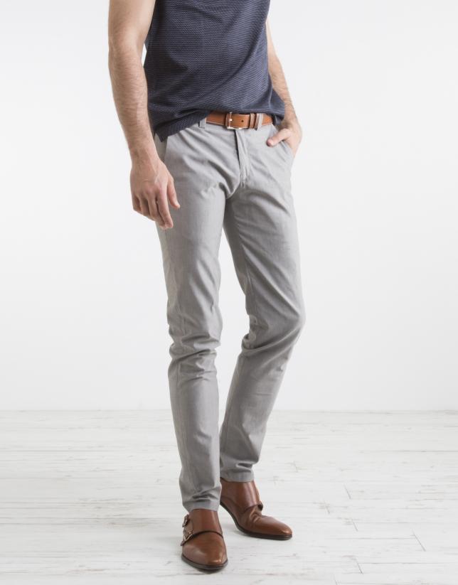 Pantalon de ville structuré gris
