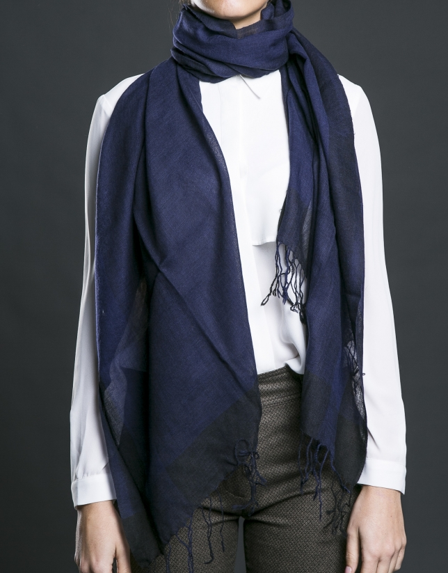 Foulard franjas azul