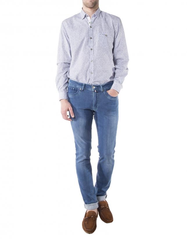 Jean bleu délavé