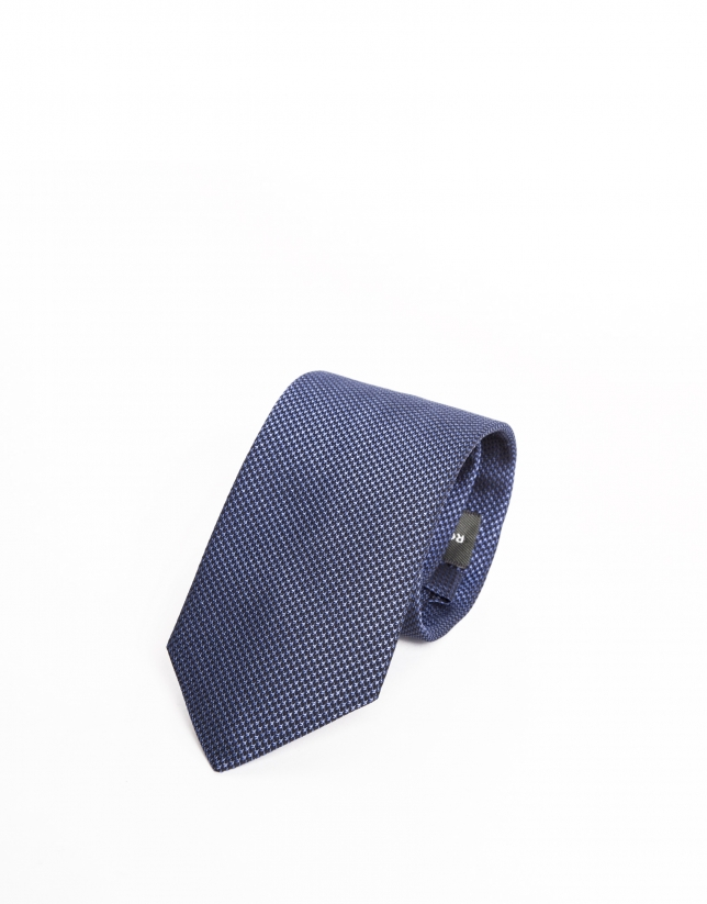 """Atlético de Madrid"" royal blue microprint tie"