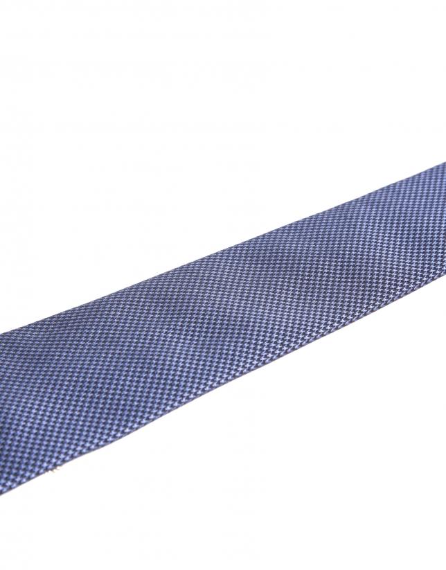 """Atlético de Madrid"" royal blue microprint tie"