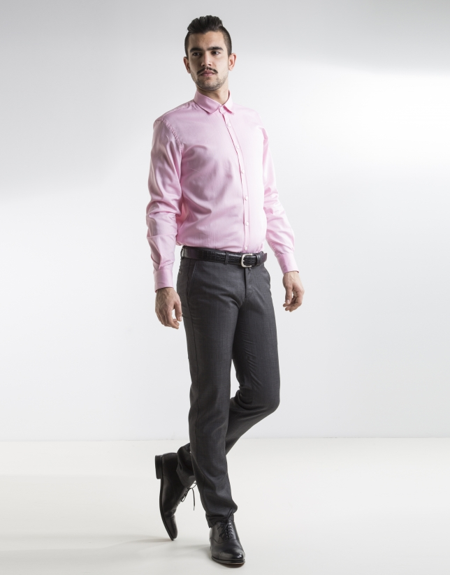 Camisa vestir oxford rosa