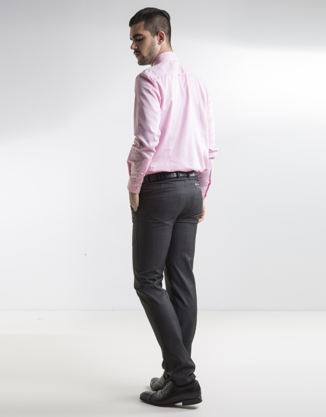 Chemise costume Oxford rose