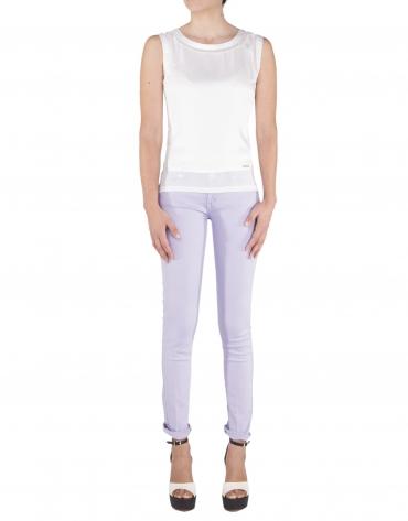 Camiseta tirantes blanco roto