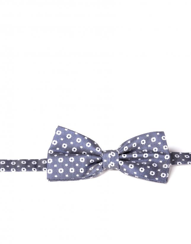 Flower blue print bowtie