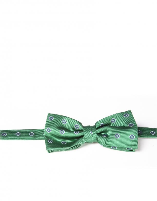 Green floral bowtie