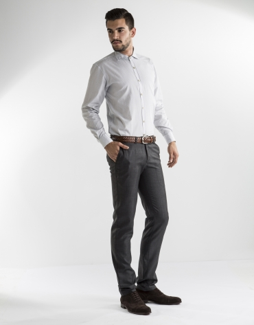 Gray microprint dress pants