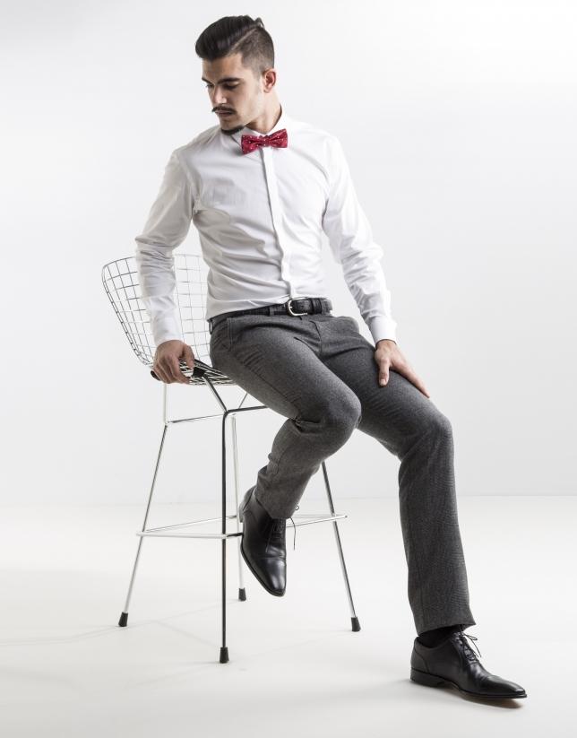 Pantalón vestir cuadro gales gris