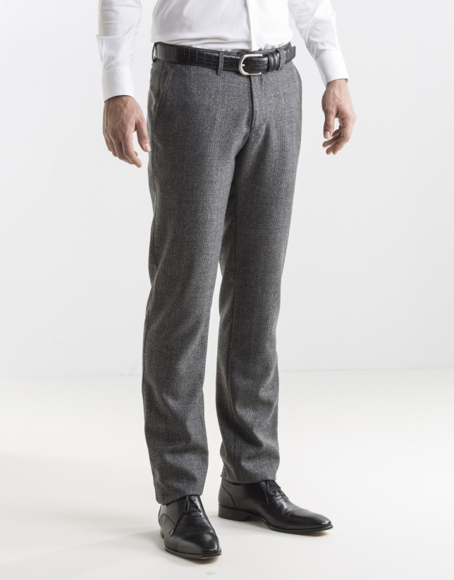 grey Prince of Wales dress pants