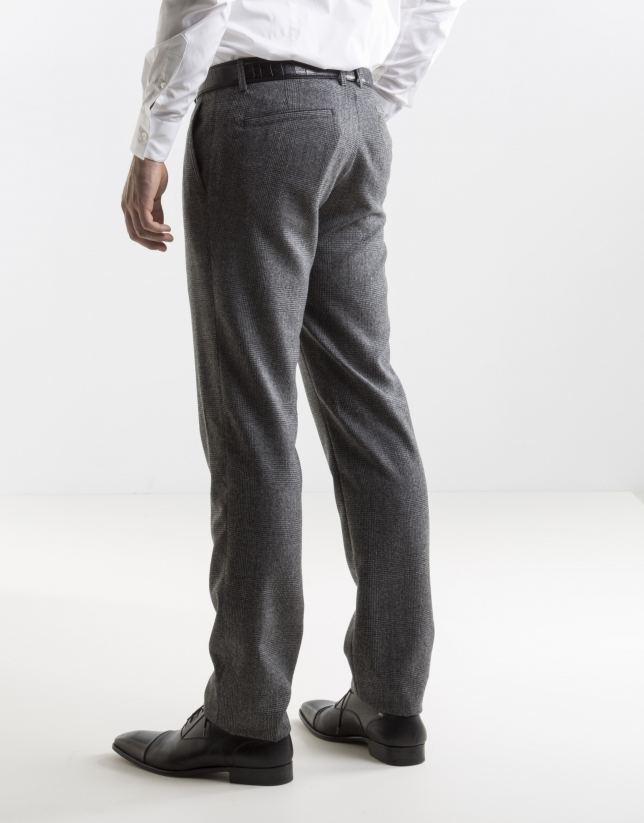 grey Prince of Wales dress pants
