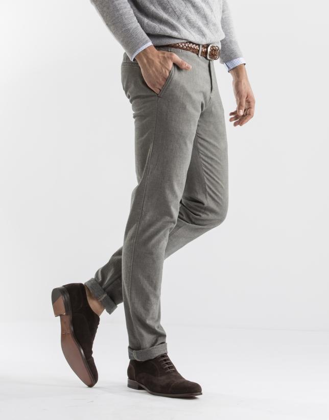 grey microprint pants