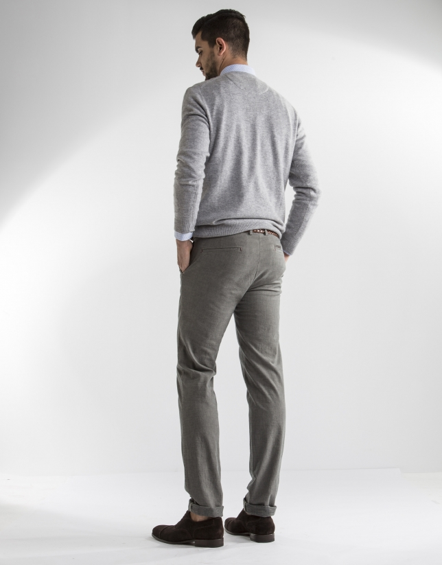 Pantalón gris microdibujo