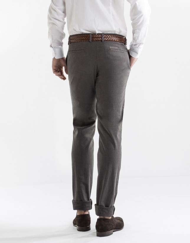 Taupe microprint sport pants