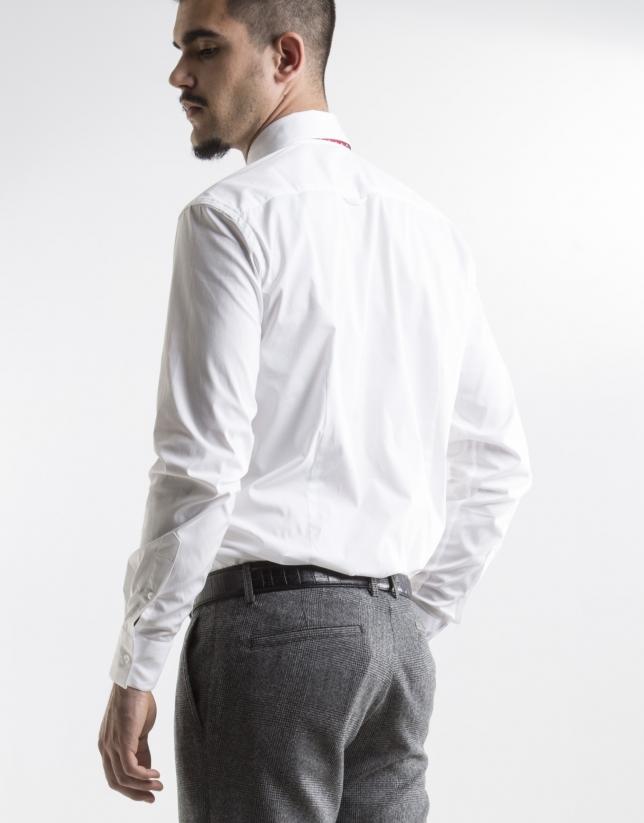 Chemise slim fit blanc