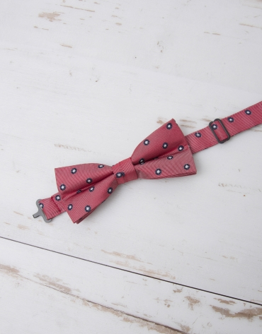 Navy blue /ivory dotted bowtie