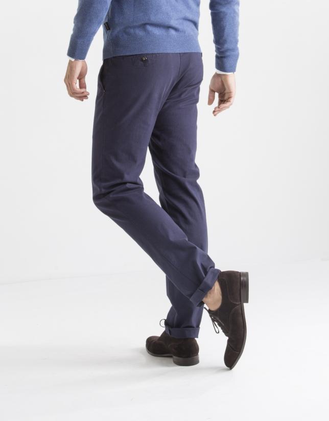 Pantalón sport espiga azul oscuro