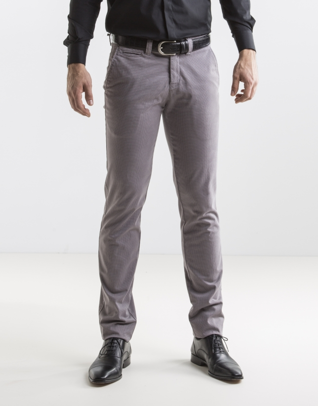 Light grey print sport pants