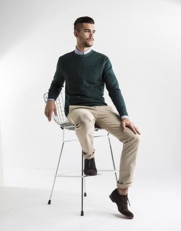 Beige plain sport pants