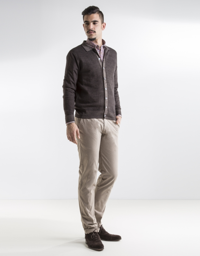 Dark beige sport pants