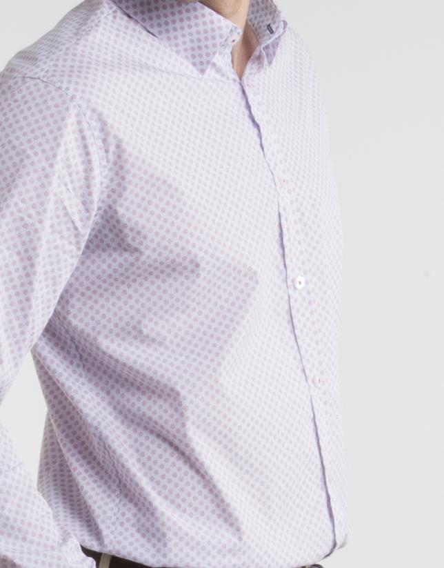 Camisa milrayas marino puntos rojos