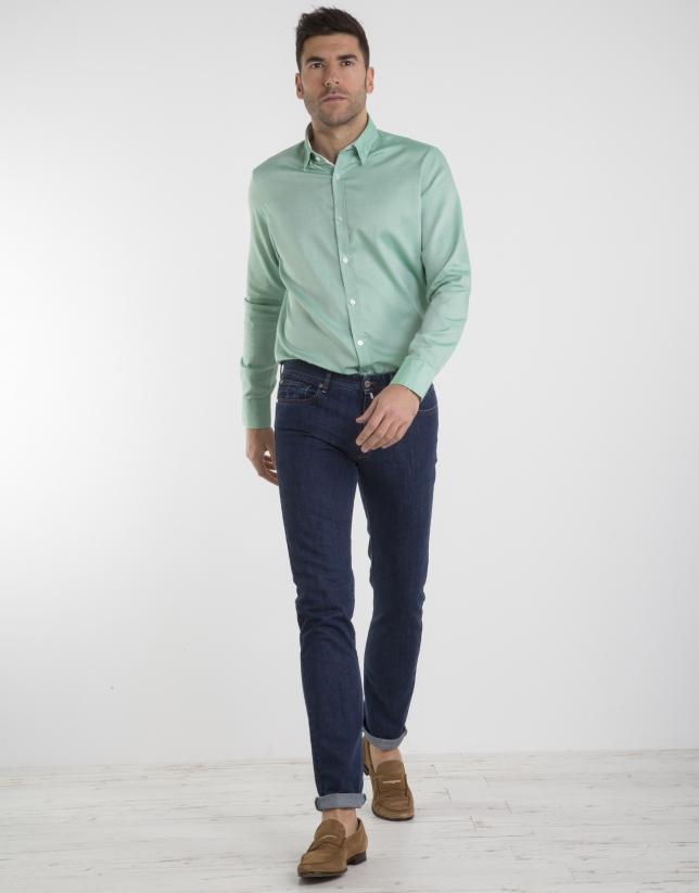 Camisa Oxford verde