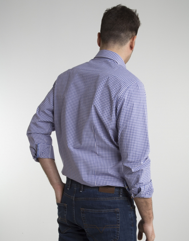 Light blue/red checked shirt