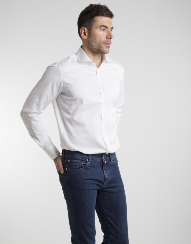 White print cotton shirt