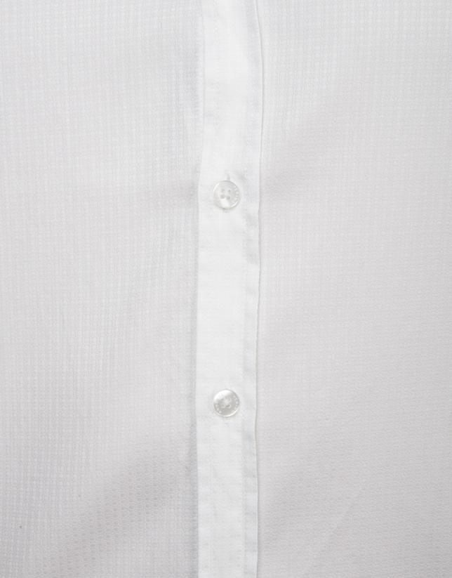 Chemise en coton imprimé blanc