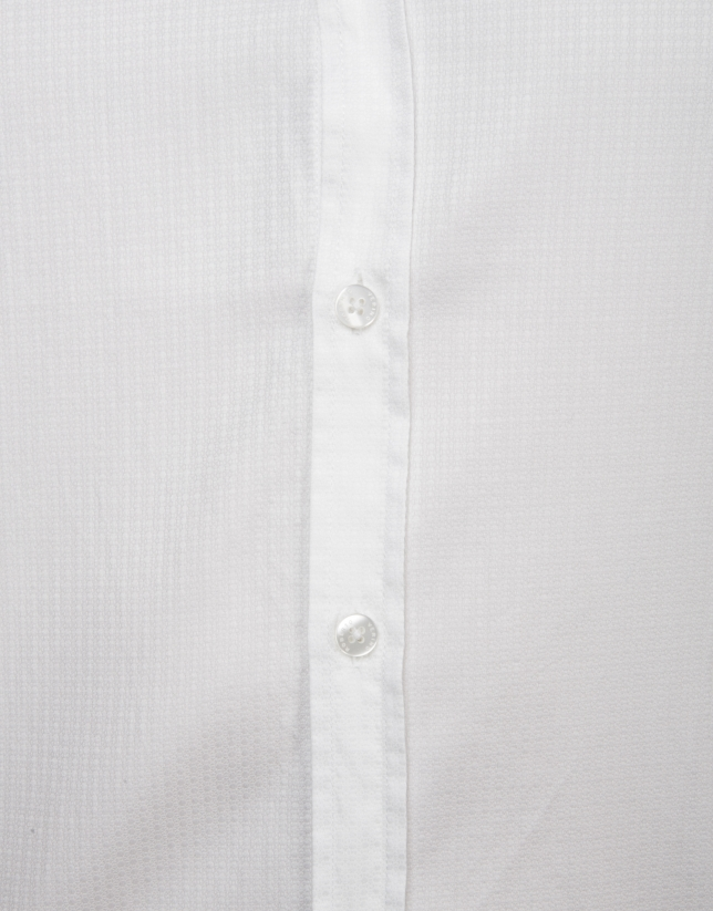 White print cotton shirt