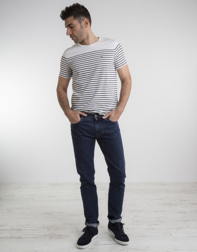 Jean slim fit (coupe ajustée) bleu